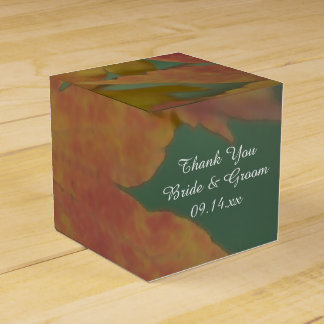 Autumn Colors Wedding Favour Box