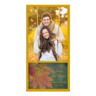 Autumn Colors Wedding Save the Date Photo Cards