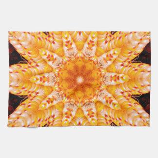 Autumn Corn Flower Tea Towel
