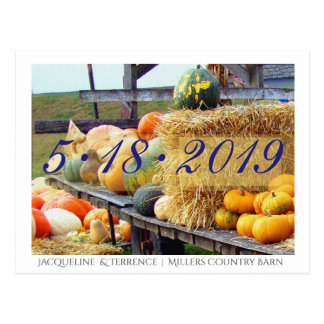 Autumn Country Farm Save the Date Postcard