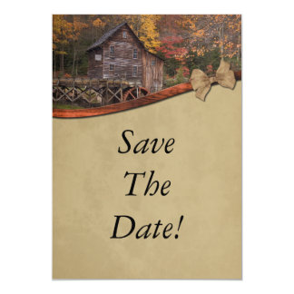Autumn Country Theme Save The Date Wedding 13 Cm X 18 Cm Invitation Card