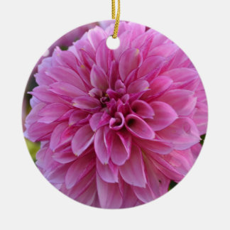 Autumn Dahlia Christmas Ornament
