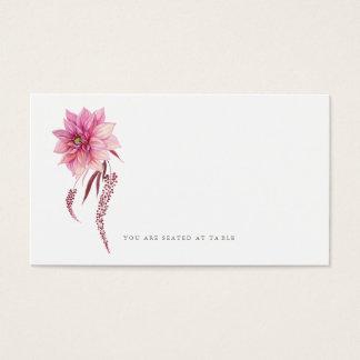 Autumn Dahlias Watercolor Escort Card