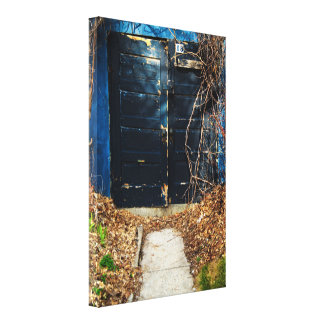 Autumn Door Gallery Wrapped Canvas