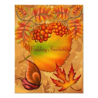 Autumn Fall Berries Wedding Invitation