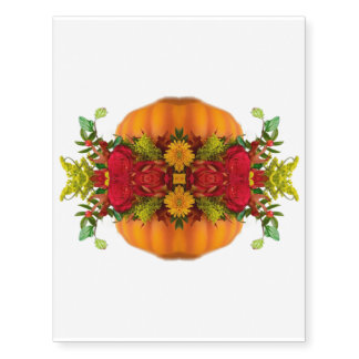 AUTUMN FALL HARVEST COLORS PUMPKIN  KALEIDOSCOPE