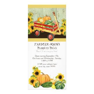 Autumn Fall Pumpkin Patch Harvest Farm Businesses Rack Card