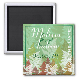 Autumn Fern Grove Save-The-Date Magnet