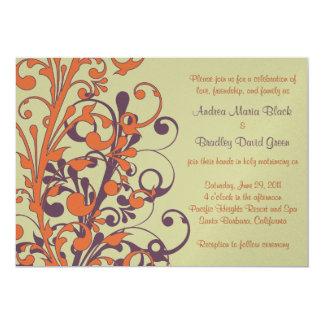 Autumn Floral Wedding Invitation