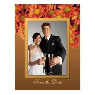 Autumn Flowers Save the Date Postcard
