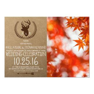 Autumn foliage/deer theme card