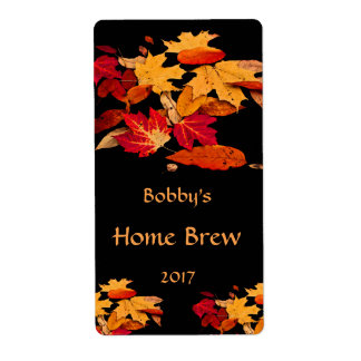 Autumn Foliage Red Orange Yellow Brown Beer Label
