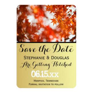 Autumn foliage/Save The Date Card