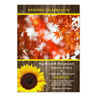 Autumn foliage/sunflower theme card