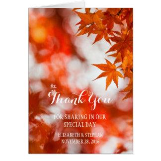 Autumn foliage/Thank You Card