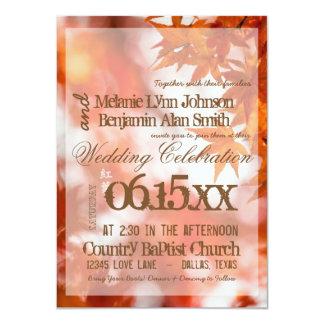 Autumn foliage/Wedding Invitation