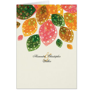 Autumn Glow Personalized Photo Thank You/Notecard Card