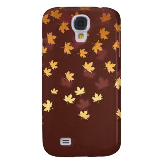 Autumn Gold Leaves Pattern Galaxy S4 Case