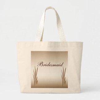Autumn Harvest Bridesmaid Large Tote Bag
