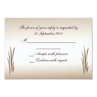 Autumn Harvest RSVP Wedding 9 Cm X 13 Cm Invitation Card