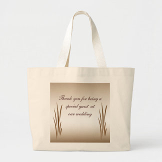 Autumn Harvest Thank You Favor Large Tote Bag