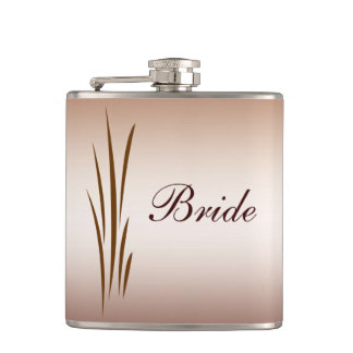 Autumn Harvest Wedding Bride Hip Flask