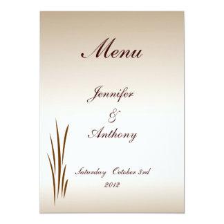 Autumn Harvest Wedding Menu Card