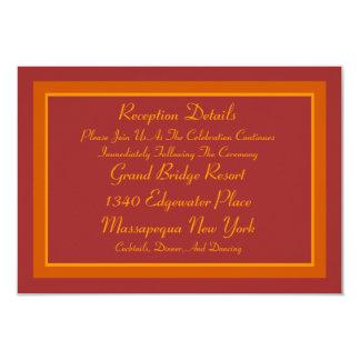 Autumn Hue Reception Card