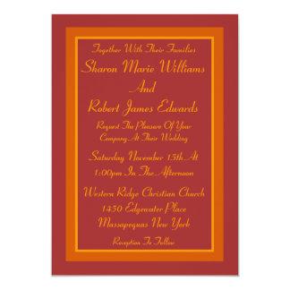 Autumn Hue Wedding Invitation