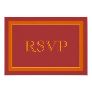 Autumn Hue Wedding RSVP Card 9 Cm X 13 Cm Invitation Card