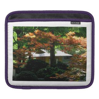 Autumn In An Oriental Garden iPad Sleeve