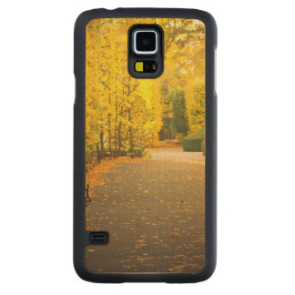 Autumn in the park in Gdansk, Poland Carved Maple Galaxy S5 Case