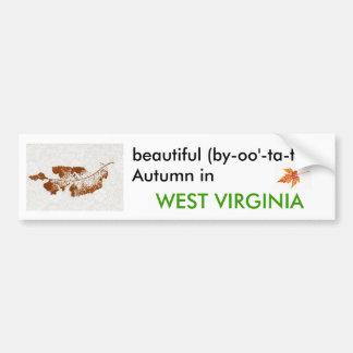 Autumn in West Virginia Bumper Sticker Car Bumper Sticker