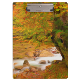 Autumn landscape of the river and the trees clipboard