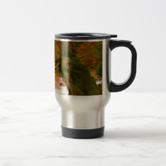 Autumn landscape of the river and the trees 15 oz stainless steel travel mug