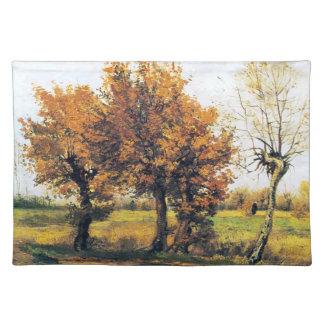 Autumn Landscape with Four Trees Placemat
