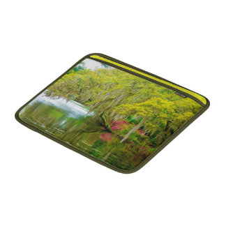 Autumn landscape with trees and river 2 sleeves for MacBook air