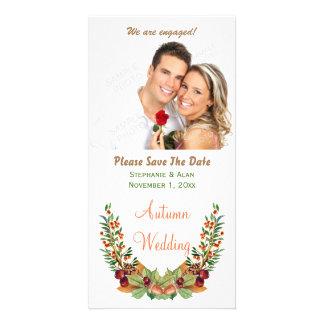 Autumn Laurel Fall Wedding Save The Date Card