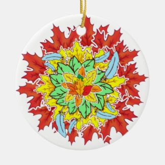 autumn leaf christmas ornament
