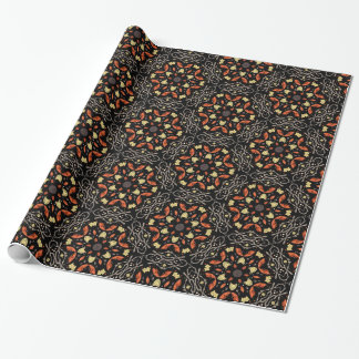 Autumn Leaf kaleidoscope wrapping paper
