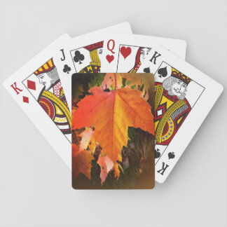 Autumn Leaf Playing Cards, Standard Index faces Playing Cards