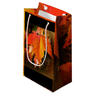 Autumn Leaf Themed Custom Gift Bag - Small, Glossy