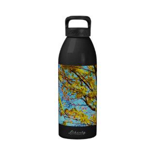 Autumn Leaves Against Blue Sky 1 Reusable Water Bottles