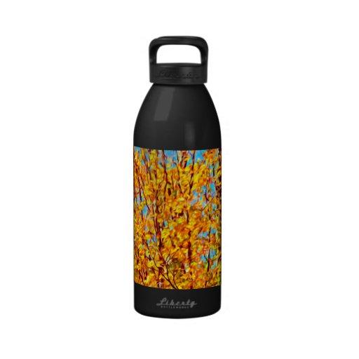 Autumn Leaves Against Blue Sky 2 Water Bottle