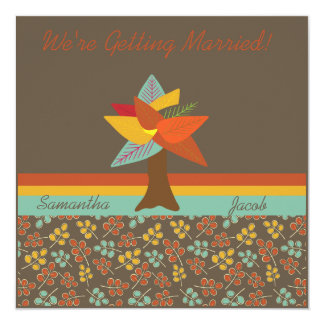 Autumn Leaves Customized Wedding Invitation