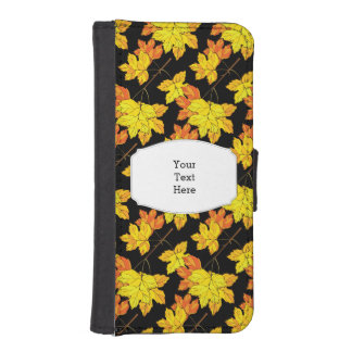Autumn Leaves Fall iPhone SE/5/5s Wallet Case