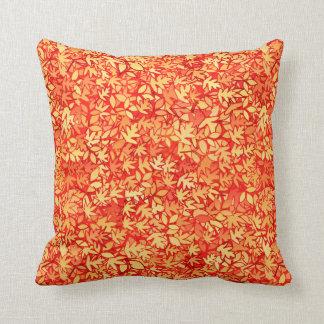 Autumn leaves, orange and gold throw pillow