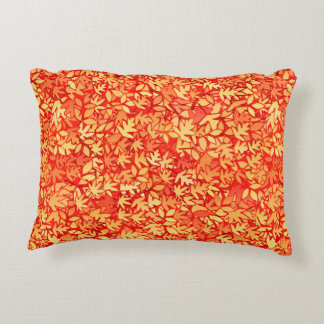 Autumn leaves, orange and gold accent pillow