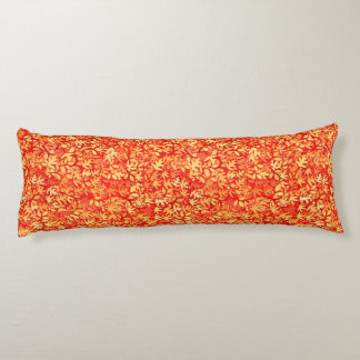 Autumn leaves, orange and gold body pillow