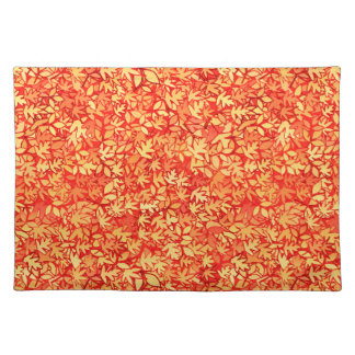 Autumn leaves, orange and gold place mats